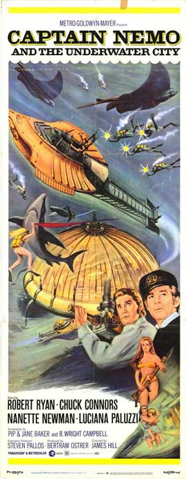 Captain Nemo and the Underwater City - 14 x 36 Movie Poster - Insert Style A