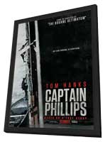 Captain Phillips - 27 x 40 Movie Poster - Style A - in Deluxe Wood Frame