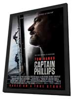 Captain Phillips - 11 x 17 Movie Poster - Style B - in Deluxe Wood Frame