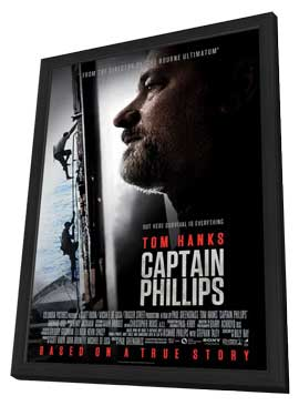 Captain Phillips - 27 x 40 Movie Poster - Style B - in Deluxe Wood Frame