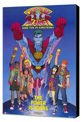 Captain Planet and the Planeteers - 11 x 17 Movie Poster - Style A - Museum Wrapped Canvas