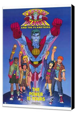 Captain Planet and the Planeteers - 27 x 40 Movie Poster - Style A - Museum Wrapped Canvas