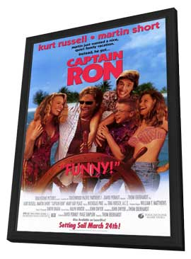 Captain Ron - 11 x 17 Movie Poster - Style A - in Deluxe Wood Frame