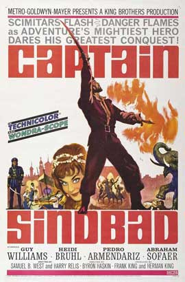 Captain Sindbad - 11 x 17 Movie Poster - Style A
