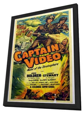 Captain Video, Master of the Stratosphere - 11 x 17 Movie Poster - Style B - in Deluxe Wood Frame