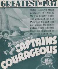 Captains Courageous - 11 x 17 Movie Poster - Style G