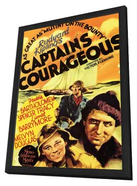 Captains Courageous - 11 x 17 Movie Poster - Style A - in Deluxe Wood Frame