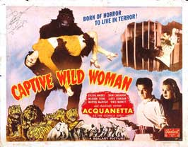 Captive Wild Woman - 22 x 28 Movie Poster - Half Sheet Style B