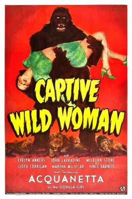 Captive Wild Woman - 27 x 40 Movie Poster - Style C