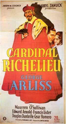 Cardinal Richelieu - 11 x 17 Movie Poster - Style A