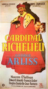 Cardinal Richelieu - 43 x 62 Movie Poster - Bus Shelter Style A