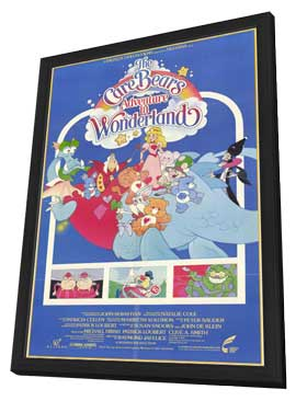 Care Bears Adventure in Wonderland - 11 x 17 Movie Poster - Style A - in Deluxe Wood Frame