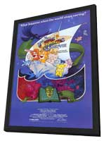 Care Bears Movie - 11 x 17 Movie Poster - Style A - in Deluxe Wood Frame