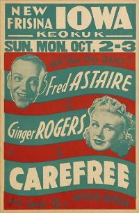 Carefree - 11 x 17 Movie Poster - Style C