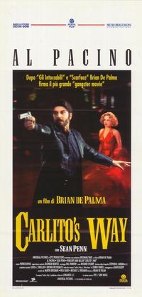 Carlito's Way - 27 x 40 Movie Poster - Italian Style B