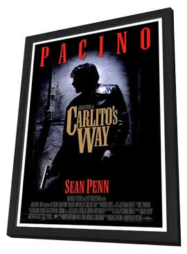 Carlito's Way - 27 x 40 Movie Poster - Style A - in Deluxe Wood Frame