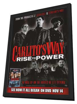 Carlito's Way: Rise to Power - 11 x 17 Movie Poster - Style A - in Deluxe Wood Frame