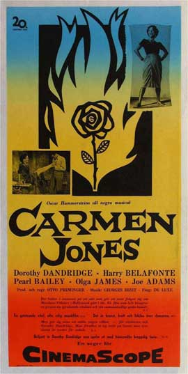 Carmen Jones - 11 x 17 Movie Poster - Swedish Style A