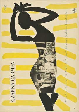 Carmen Jones - 11 x 17 Movie Poster - Polish Style A