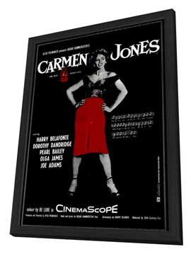 Carmen Jones - 11 x 17 Movie Poster - Style B - in Deluxe Wood Frame