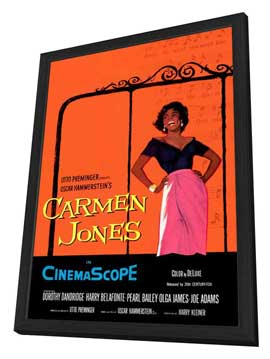 Carmen Jones - 27 x 40 Movie Poster - Style A - in Deluxe Wood Frame