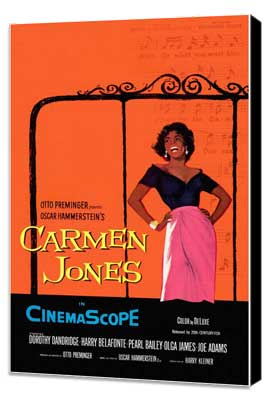 Carmen Jones - 11 x 17 Movie Poster - Style A - Museum Wrapped Canvas