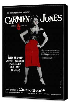 Carmen Jones - 11 x 17 Movie Poster - Style B - Museum Wrapped Canvas