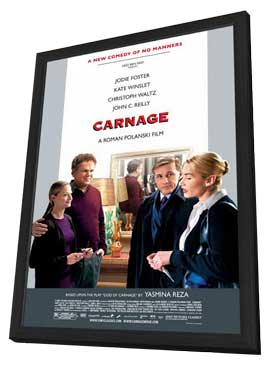 Carnage - 27 x 40 Movie Poster - Style B - in Deluxe Wood Frame