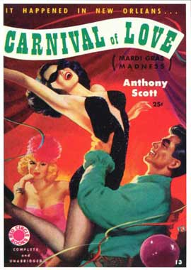 Carnival of Love - 11 x 17 Retro Book Cover Poster