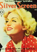 Carole Lombard - 11 x 17 Silver Screen Magazine Cover 1930's Style A