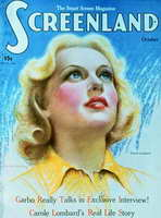 Carole Lombard - 11 x 17 Screenland Magazine Cover 1920's Style A