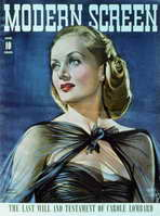 Carole Lombard - 11 x 17 Modern Screen Magazine Cover 1940's