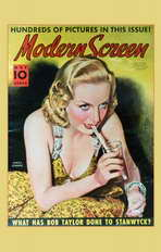 Carole Lombard - 11 x 17 Modern Screen Magazine Cover 1930's Style B