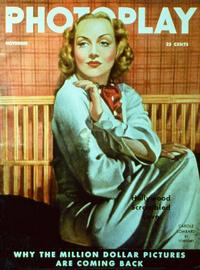 Carole Lombard - 11 x 17 Photoplay Magazine Cover 1930's Style A