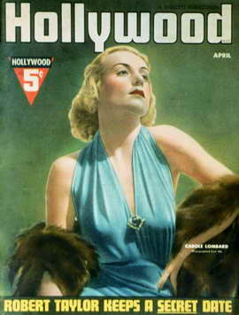Carole Lombard - 11 x 17 Hollywood Magazine Cover 1930's Style A