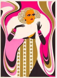 Carole Lombard - Art Print - 20.5 x 28 - Elaine Hanelock Style A