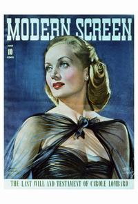 Carole Lombard - 27 x 40 Movie Poster - Modern Screen Magazine Cover 1940's