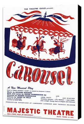 Carousel (Broadway) - 27 x 40 Poster - Style A - Museum Wrapped Canvas