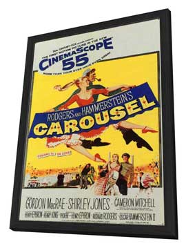 Carousel - 11 x 17 Movie Poster - Style B - in Deluxe Wood Frame