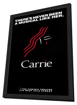 Carrie (Broadway) - 11 x 17 Poster - Style A - in Deluxe Wood Frame