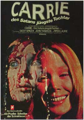 Carrie - 11 x 17 Movie Poster - German Style A