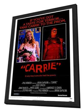 Carrie - 27 x 40 Movie Poster - Style A - in Deluxe Wood Frame