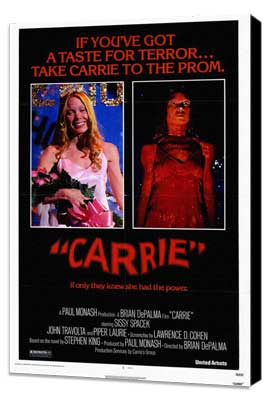 Carrie - 27 x 40 Movie Poster - Style A - Museum Wrapped Canvas