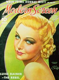 Madeleine Carroll - 27 x 40 Movie Poster - Modern Screen Magazine Cover 1930's Style B