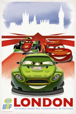 Cars 2 - 27 x 40 Movie Poster - Style J