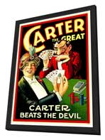 Carter Beats the Devil - 27 x 40 Movie Poster - Style A - in Deluxe Wood Frame