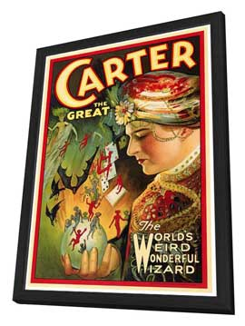 Carter The Great - 27 x 40 Movie Poster - Style B - in Deluxe Wood Frame