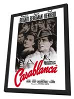 Casablanca - 27 x 40 Movie Poster - Style B - in Deluxe Wood Frame
