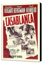 Casablanca - 11 x 17 Movie Poster - Style V - Museum Wrapped Canvas