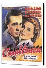 Casablanca - 11 x 17 Movie Poster - Style B - Museum Wrapped Canvas